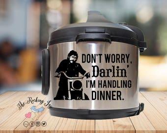 Instant pot Decal, Sam elliott, ,mask,  IP decal, crock pot decal, pressure cooker