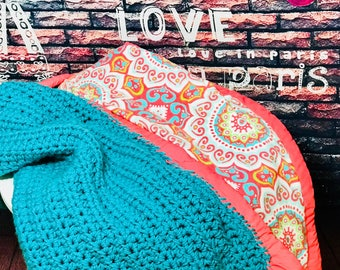 Paisley Quilted Crochet Blanket
