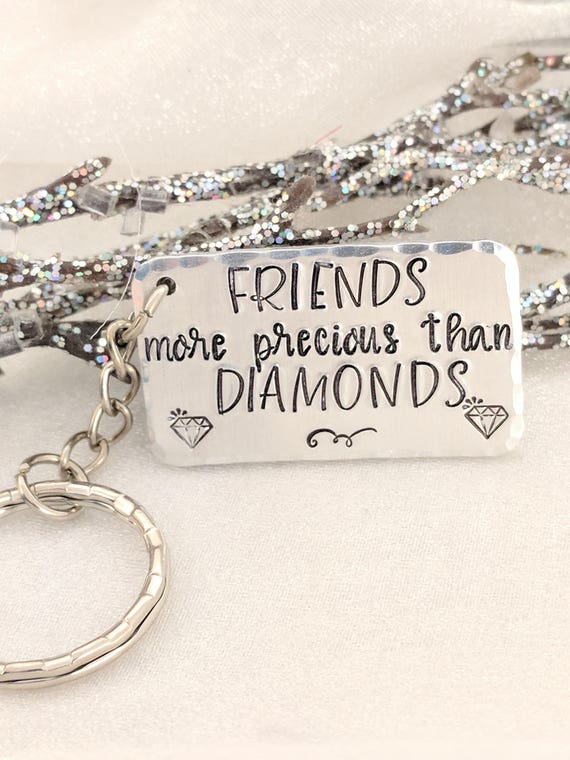 Friendship Keychain-Metal Stamped Keychain-Gift for Friend-Ready to Ship-Friends Keychain-Best Friends Keychain-Friend Gift-Sold As Is