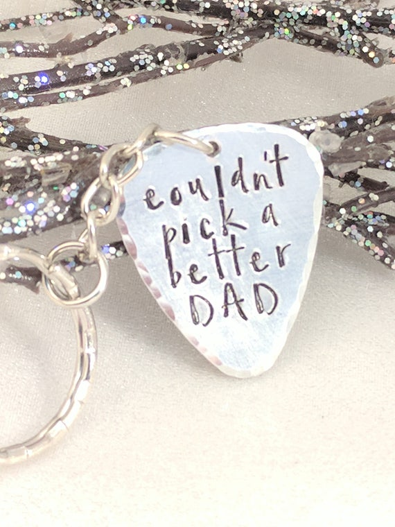 Dad Pick - Metal Stamped - Pick Keychain for Dad - Father's Day Gift - Gift for Dad - Ready to Ship - Sold As Is - SALE - Pick a Better Dad