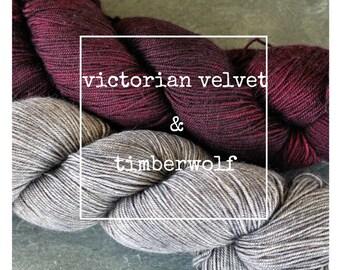 Victorian Velvet & Timberwolf Yak Attack Pack for Kirsten Kapur's MKAL