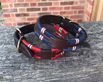 Drover Polo Leather Dog Collar from XXXS to XXL, 2 colours Available