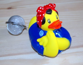 ball tea duck rosie the Riveter