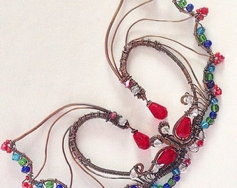 Dragon Wings Earcuff Set Handmade Ear Fashion