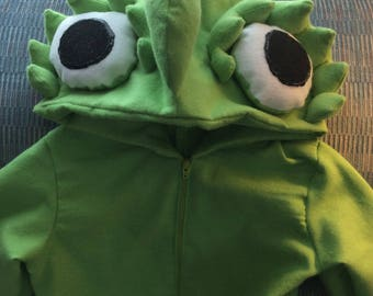 New pascal camelian lizard costume 9-12 month