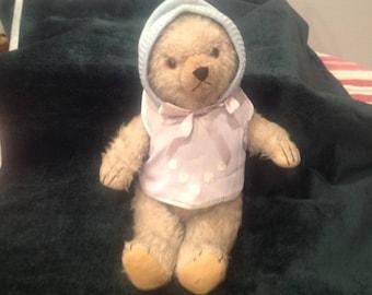 Vintage beige mohair teddy bear