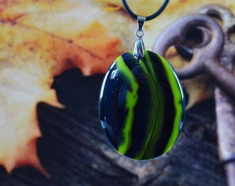FREE SHIPPING, Glass pendant Fused glass jewelry,  Handmade jewelry, Its a girl