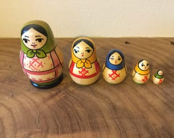 Russian Nesting Dolls Antique