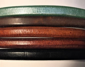 "Shorts: 5 Strands licorice leather bundle, 6"" each, Colors as shown, #8 bundle"