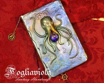 Cthulhu book monster kraken Octopus squid tentacles diary lovecraft horror journal notebook octopus sketchbook tiny book handmade goth