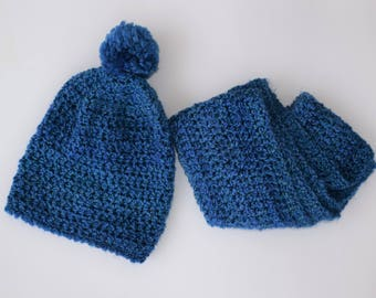 SPECIAL - Slouchy Hat and Infinity Scarf Set