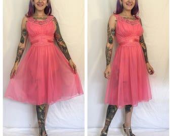 FLASH SALE Vintage 1960's Pink Slip Dress