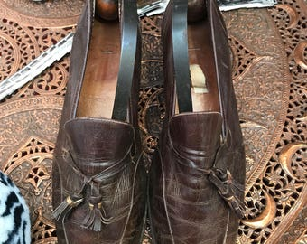 Vintage Gucci Shoes Black Leather 4 37