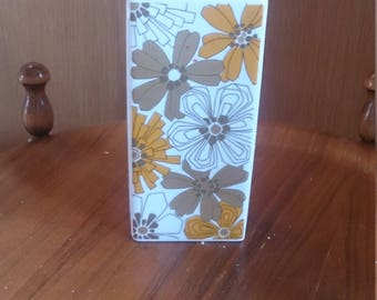 Jaeger and C0 + + beautiful vintage vase-orange-gold-white decor