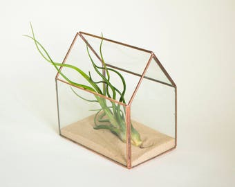Tiny glass greenhouse - small