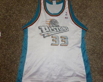 Vtg Grant Hill Detroit Pistons NBA Champion Jersey Sz Men's 48 XL