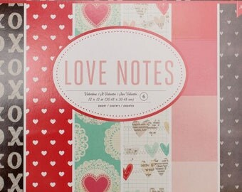 Love Notes 12x12 Paper Package