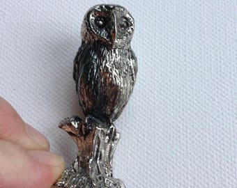 highly detailed metal owl figurine perfect