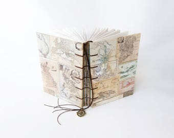 Antique Map Collection - Travel Journal, Notebook, Sketchbook