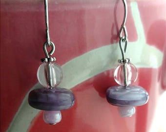 Small purple earrings
