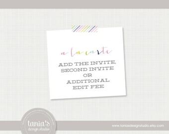 A La Carte : Second Invite