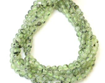 6mm Prehnite for Necklaces Spiritual Health and Wellness Beads or Mala Jewellery on 16 inch strand