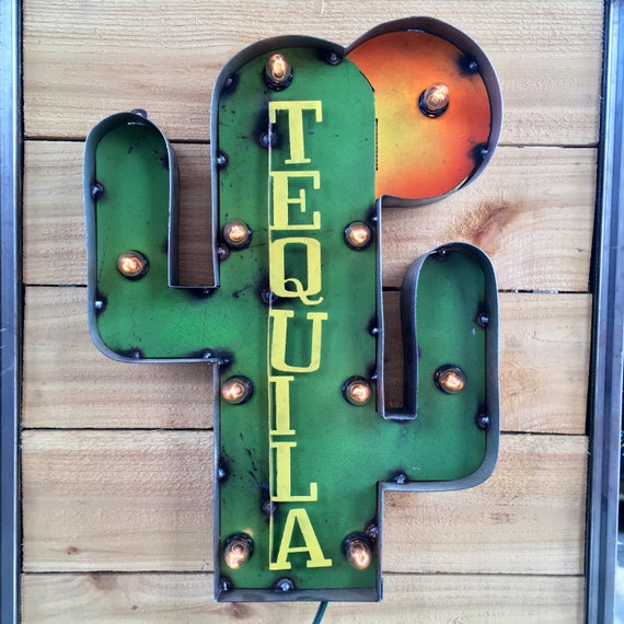 Tequila cactus Marquee Sign