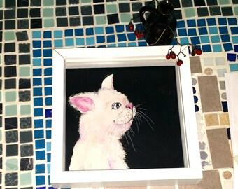 Cat portrait (original acrylic painting)