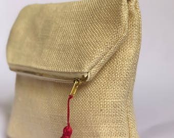 Hessian Clutch Bags by KvO makes...