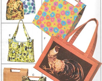 McCall's Fashion Accessories Pattern 4402 HANDBAGS & TOTES