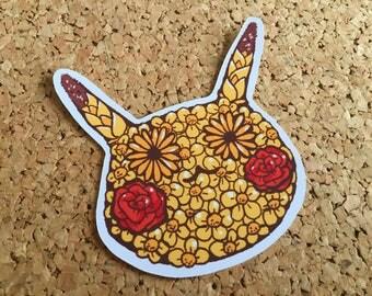 Pokeflower sticker - Pikachu