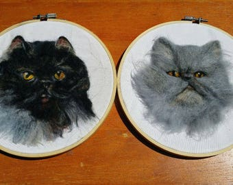 Needle Felted Animal - Wool Painting