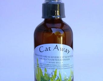 Cat Away Spray, 4 oz Aromatherapy cat repellent                                                                     for Furniture Protection
