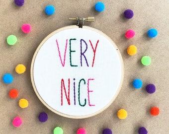 Very Nice Embroidery Hoop Art/ Holiday Wall Decor/ Christmas Embroidery Hoop/ Holiday Fiber Art/ Christmas Wall Decor/ Bright Christmas Art