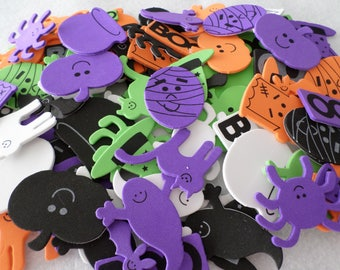 Lot of 105 Halloween themed foam stickers, for kids crafts, embellishing, holidays, seasonal