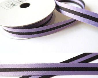 2 m x 10mm double-sided purple fancy Ribbon.