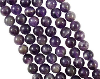 10 x 4mm AMETHYST round beads