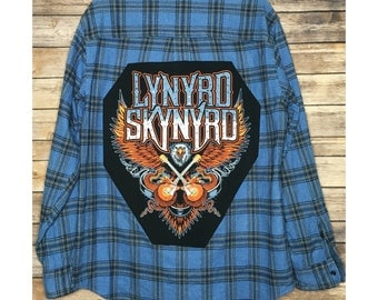 Lynyrd Skynyrd flannel with crystals