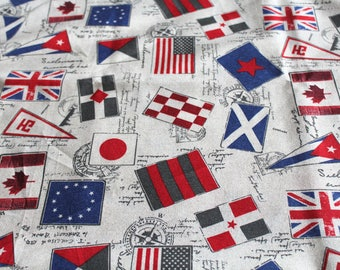 Fabric upholstery 50 x 67 cm flags