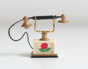 Petite Princess, Petite Princess Miniatures, Petite Princess Telephone, Miniature Telephone, Dollhouse Telephone, Miniature Phone, Telephone