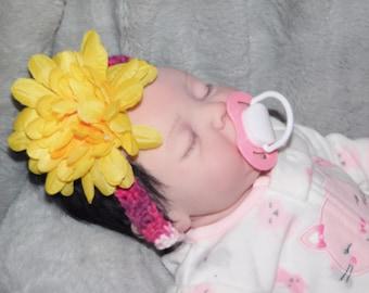 Baby flower headband