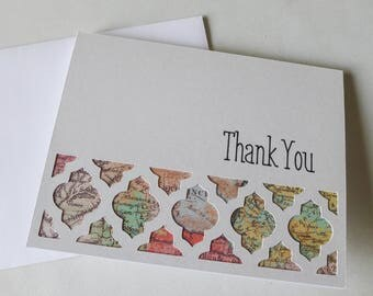 Map Thank You Card