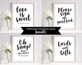 Wedding Signs Templates, Wedding Sign Set, Wedding Sign Template, Wedding Reception Signs, Wedding Printable, PDF Instant Download, MM03-1