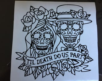 Decal Day of the dead, Day of the dead, Dia de los muertos, Decal