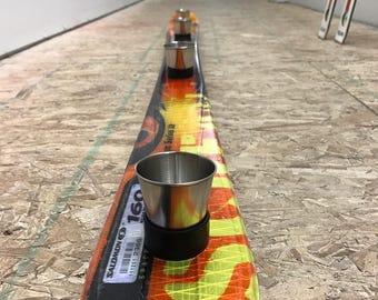 Shotski made from Recycled Ski's