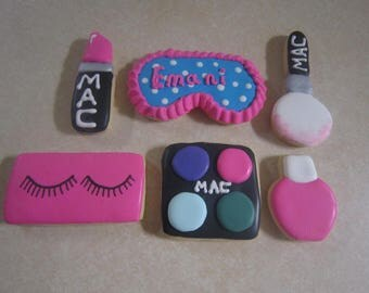 12 Make Up Set 2 Hand Decorated Cookies