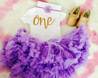 First Birthday Outfit Girl Purple | Purple Tutu | 1st Birthday Girl Outfit Purple | Baby Girl First Birthday Outfit