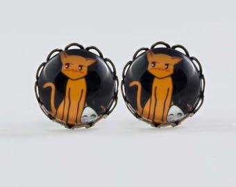 Fruits Basket / Kyo & Tuhru/ 12mm earrings / Exclusive for Manga Lovers