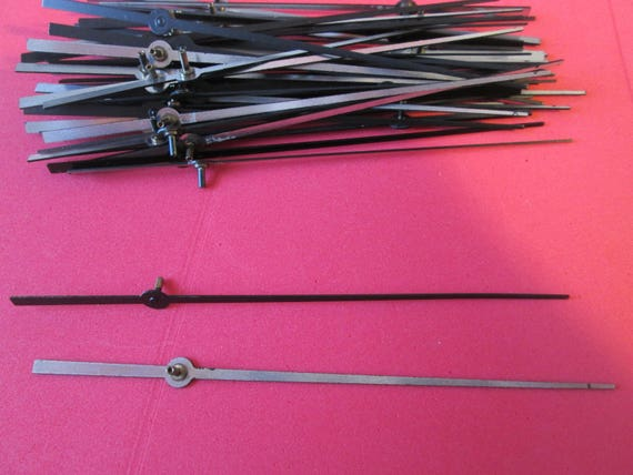 """48 New 4 1/4"""" Black Aluminum Clock Second Hands  for your Clock Projects, Steampunk Art, Jewelry Making..."""