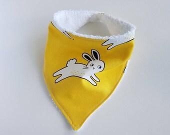 Baby Girl, Easter, Baby Gift, Easter Bunny, Bandana Bib, Easter Baby Bib, Dribble Bib, Baby Bib, Bandanna Bib, Drool Bib, New Baby Gift, Bib